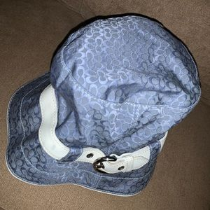Selling a blue coach bucket hat. Good condition.